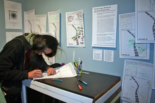 A People's Atlas of Portland (a participant's map)